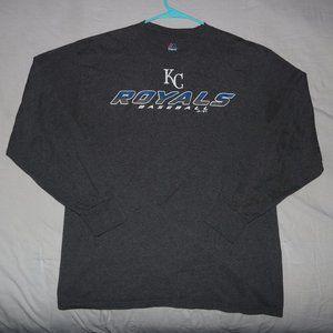 Kansas City KC Royals Baseball LS Shirt - Length30